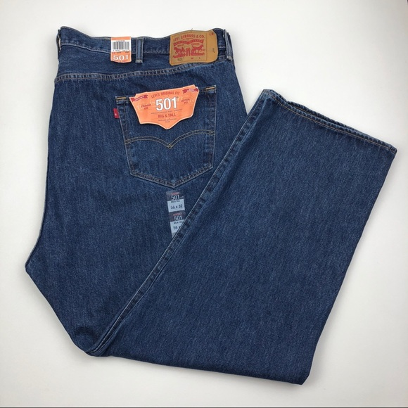 Levi's Other - LEVI'S 501 Button Fly Straight Jeans BIG & TALL